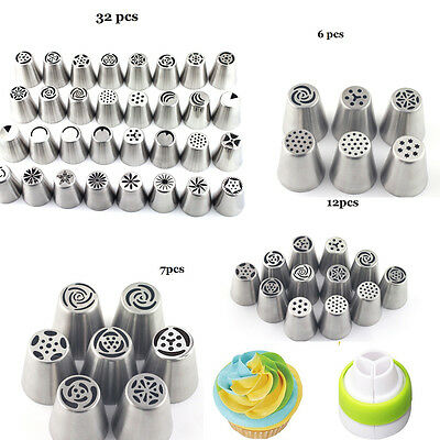 DIY 32 Style Russian Flower Icing Piping Nozzles Cake Decoration Tip Baking Tool