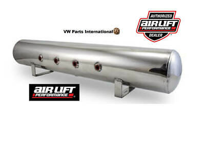 "Air Lift Performance 5 Gallon Polished Aluminium Air Tank 4x 3/8"" Face Ports 36"""