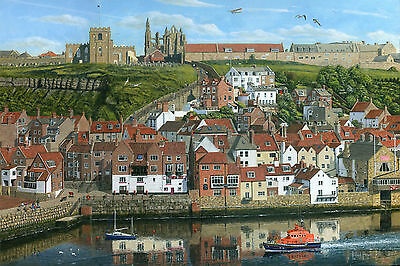 "NEW ORIGINAL RICHARD HARPUM M.A ""Whitby Harbour North Yorkshire"" GOTHIC PAINTING"