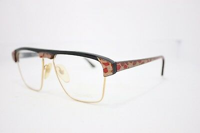 Italian Graffiti Vintage Eyeglasses MadeinItaly RARE 1980s 8214 54mm Gold Red