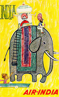 A3 SIZE - Air India Travel Retro Indian Advertisemet  WALL DECOR ART POSTER