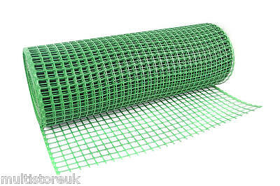 Green Plastic Fencing Mesh 30mm x 30mm Garden Animals Fence Bedding Border Net