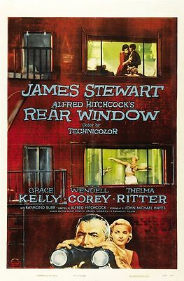 A3 SIZE - Alfred Hitchcock Rear Window Film, MOVIE GIFT / WALL DECOR ART POSTER