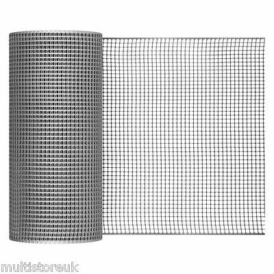Silver Garden Mesh Size 10mm x 10mm Fencing Animals Fence PVC Border Bedding Net