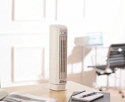 Mini Tower Fan Oscillating Multi Speed Settings With Timer Cool Quiet Office New