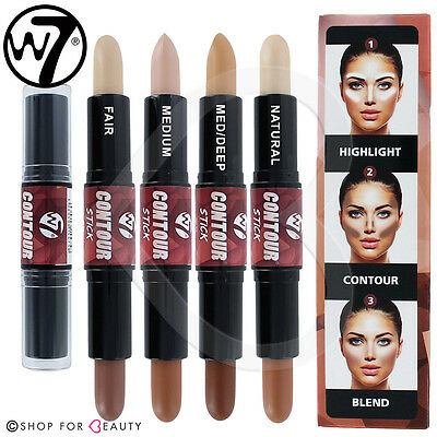 W7 Face Contour Make Up Stick  Dual Bronzer & Highlighter Contour Kit NEW