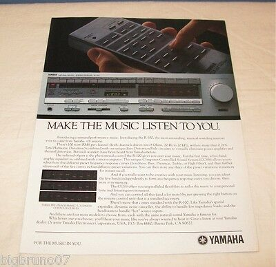 Vintage Yamaha R-100 Stereo Receiver PRINT AD 1983