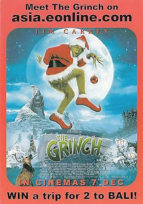 The Grinch Movie NEW postcard! Jim Carrey 2000