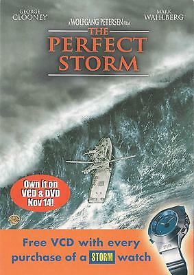 The Perfect Storm Movie NEW postcard! George Clooney, Mark Wahlberg