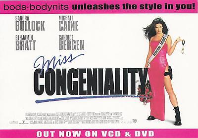 Miss Congeniality NEW postcard! *Last one* from 2001. Sandra Bullock. Ben Bratt