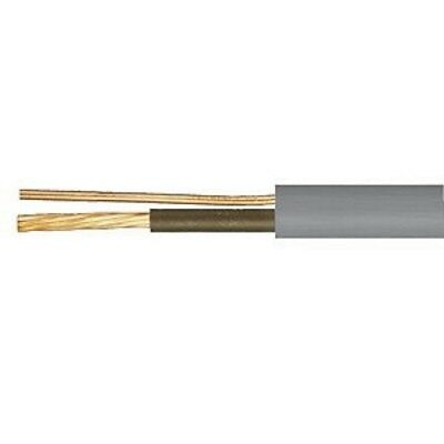 Grey 1mm Brown Single Core & Earth 6241Y Flat PVC/PVC Power & Lighting Cable