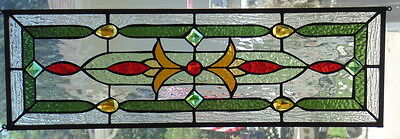 """Stained Glass window hanging 26 1/2 X 8 1/2"""""""