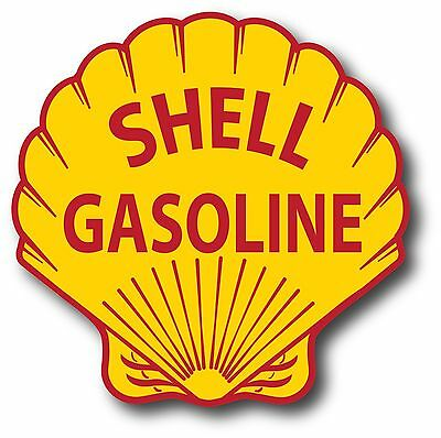 VINTAGE STYLE 6 INCH SUPER SHELL GAS GASOLINE MOTOR OIL WATERSLID DECAL STICKER