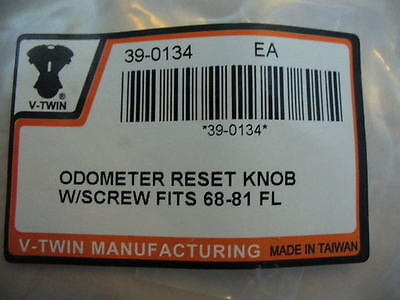 V-Twin Manufacturing Odometer Reset Knob With Screw 67215-68