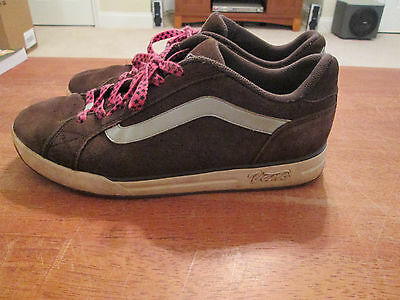 Vans Womens Size 10 Brown Leather Upper (Suede) Lace-Up Giulietta Skate Shoes