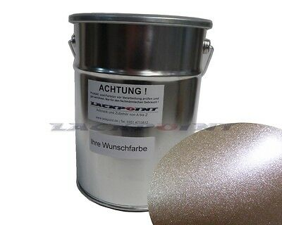 1 Liter 2K Car paint Silver Red Metallic Matte without Lacque & Dilution