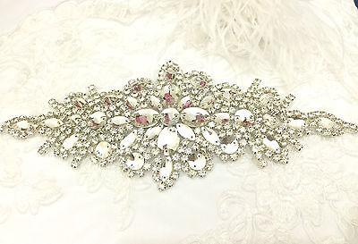beautiful Trimming Motif hand Sewing Iron on Bridal Dress belt Clothes Appliques