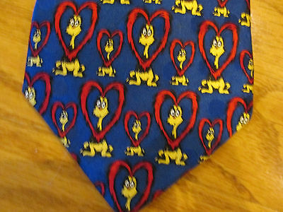 Dr Seuss Silk Tie If I Ran The Zoo Blue Yellow And Red Colors Lots Of Fun!!