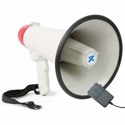 Vexus Audio Megaphone 40Watt Bull Horn with Siren and Microphone