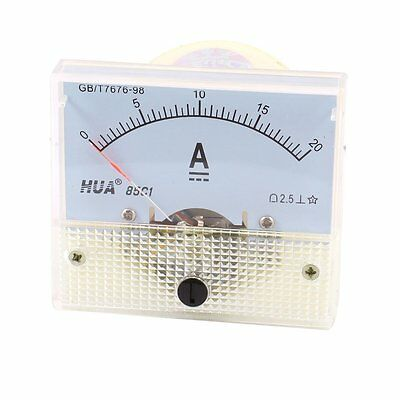 DC Analog Meter Panel 20A AMP Current Ammeters 85C1 0-20A Gauge