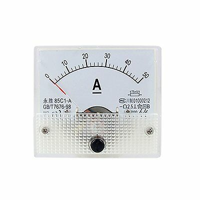 DC Analog Meter Panel 50A AMP Current Ammeters 85C1 0-50A Gauge
