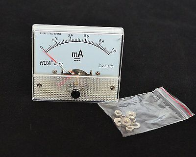 DC Analog Meter Panel 1mA  AMP Current Ammeters 85C1 0-1mA Gauge