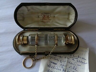 Pre Victorian Catchpole & Williams Oxford Street double scent bottle orig. box
