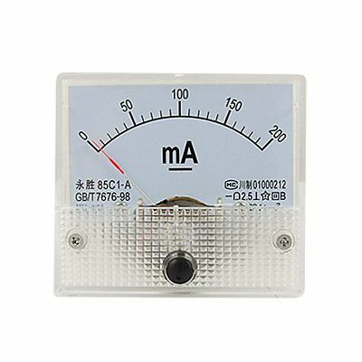 DC Analog Meter Panel 200mA  AMP Current Ammeters 85C1 0-200mA Gauge