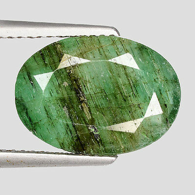 "4.67cts Green Oval Emerald Natural Loose Gemstone ""SEE VIDEO"""