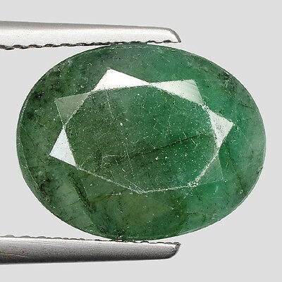 "6.67cts Green Oval Emerald Natural Loose Gemstone ""SEE VIDEO"""