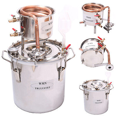 DIY Home Distiller Boiler Moonshine Still Spirits COPPER Water Alcohol Oil Brew