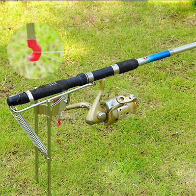 LTC Stainless Steel Fishing Rod Holder Rail Mount Boat  with Tip-Up Hook Setter