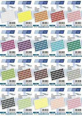 300 Marking DOT STICKERS Round Spot Circles dots PAPER Labels 12 mm -20 Colours