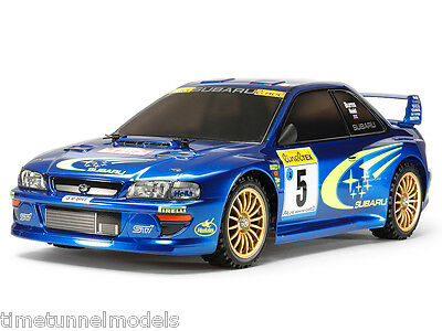 Tamiya 58631 Subaru Impreza Monte-Carlo RC Kit - DEAL BUNDLE w/ STEERWHEEL Radio
