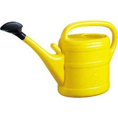 10L Garden Plant Watering Can By - Light Weight With Rose - Yellow Colour
