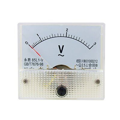 AC Analog Meter Panel 3V  Voltage Meter Voltmeters 85L1 0-3 V Gauge