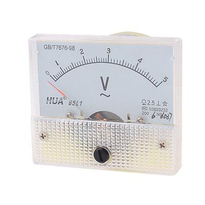 AC Analog Meter Panel 5V  Voltage Meter Voltmeters 85L1 0-5 V Gauge