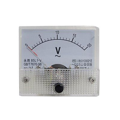 AC Analog Meter Panel 20V  Voltage Meter Voltmeters 85L1 0-20 V Gauge