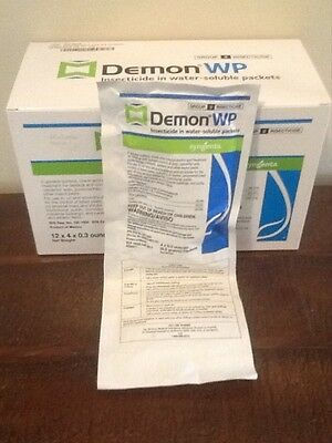 Demon WP insecticide spray, roach spray, flea spray insect control 12 packs
