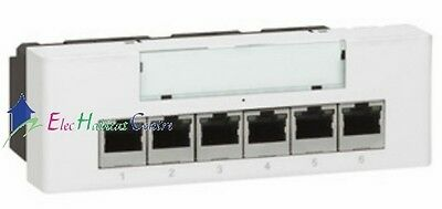 Mécanisme switches 10/100 base T encastré non manageable Mosaic Legrand 77900