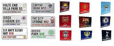 Street Road Sign Novelty Plate Official Football Club Crest Metal Door Sign
