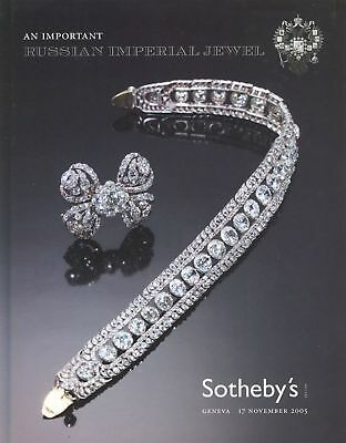 Sotheby's Catalogue Important Russian Imperial Jewel 2005 HB