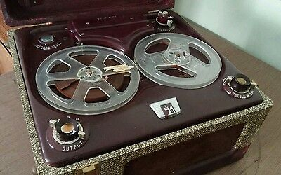 Vintage 50's Webcor Model 2010-1 Reel To Reel Recorder With Microphone Untested