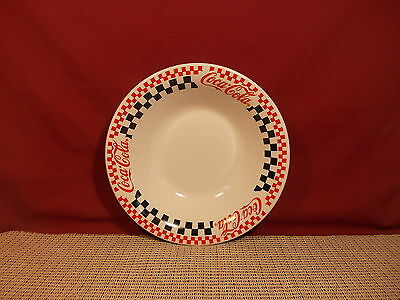 """Gibson Dinnerware Coca Cola Diner Pattern  Soup Bowl 8"""""""