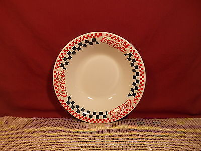 Gibson Dinnerware Coca Cola Pattern  Soup Bowl 8""