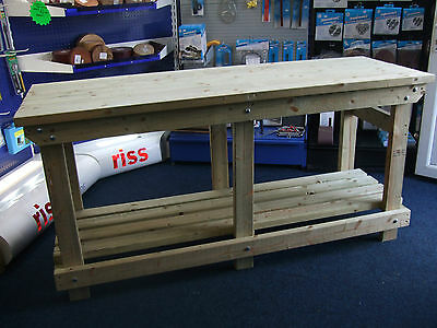 New hand made 6FT solid heavy duty, wooden work bench table