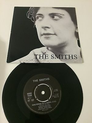 """The Smiths - Girlfriend In A Coma / Work In A Tour...45 giri 7"""" RT197 Uk EX+/EX-"""