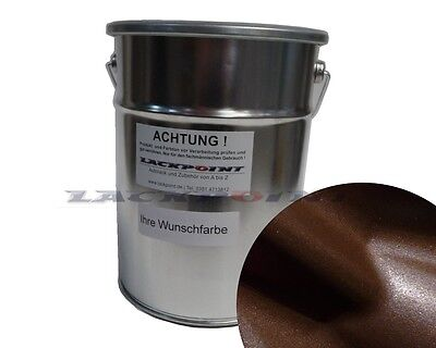 1 Liter 2K Car paint Dark Brown Metallic without Lacque & Dilution Lackpoint new