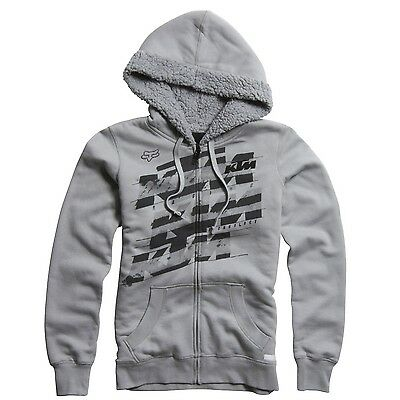 Fox - KTM Dividend Sherpa Zip Grey Youth Girl Hoodie - X-Small