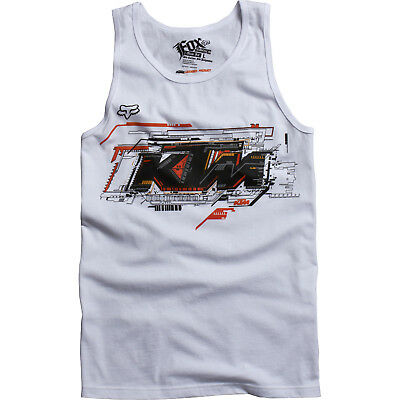 Fox – KTM Layout Premium White Tank Top - X-Large